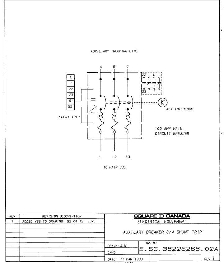 square d shunt trip circuit breaker wiring diagram wiring wiring diagram