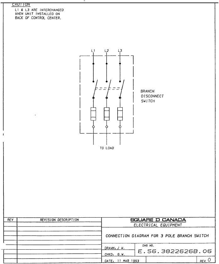 connection diagram for 3 pole branch switch tm 5 3895 374 24 1 134 rh constructionasphalt tpub com 3 pole toggle switch diagram 3 pole switch wiring diagram