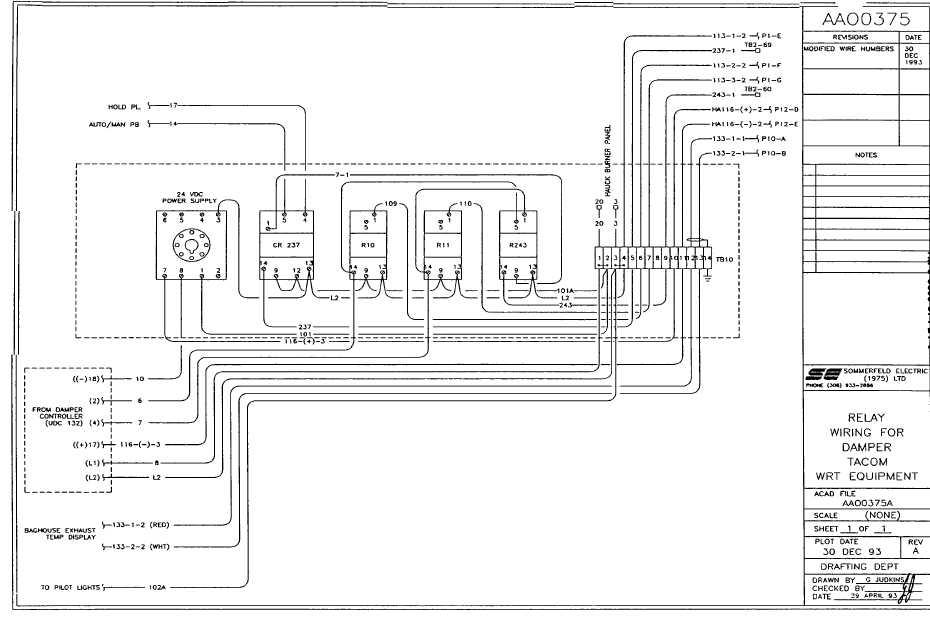 relay wiring damper