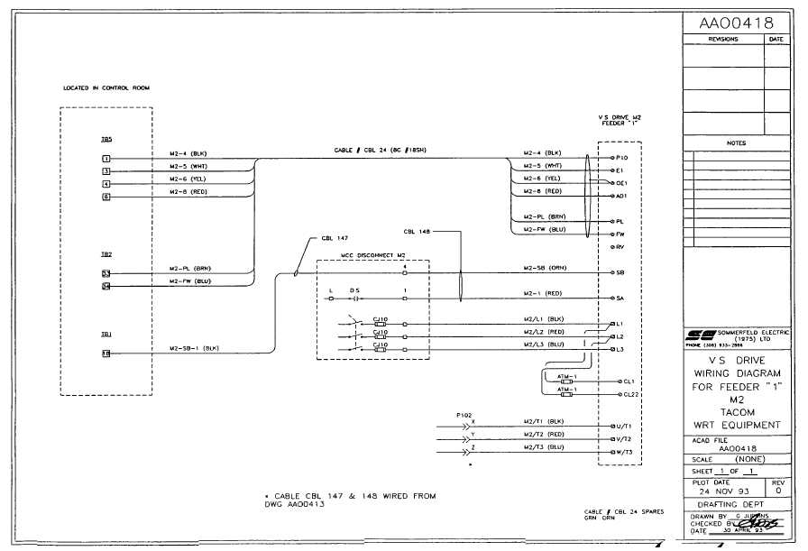 vs drive wiring diagram for feeder  u0026quot 1 u0026quot  m2
